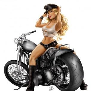 ..she likes the power between her legs!: Harley Davidson, Pinup Motorcycles, Pinup Biker Tattoo, Pin Up Girls Tattoo Biker, Cris Delara, Girls Generation, Biker Babes, Lara, Cartoon Pin Up Girls