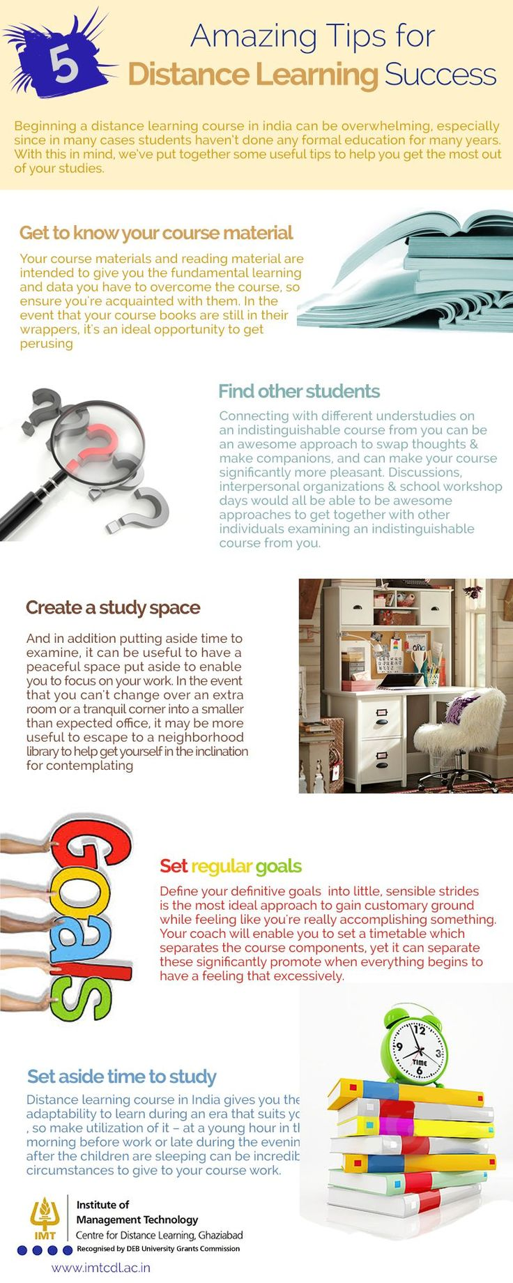 best imt cdl images colleges distance and long  5 amazing tips for distance learning success infographic beginning a distance learning course in