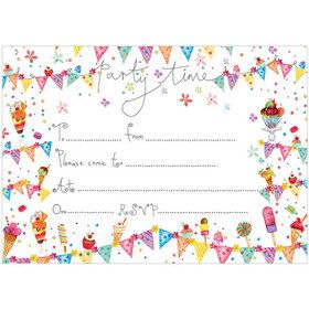 IV99 Time to Party Invitations (pack of 10) Matching gift wrap, tag and card available. www.gailscards.com.au