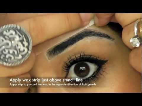 Eyebrow Tutorial HD Brows Perfect Eyebrows Shape Brows DETAILED Great info on how to stencil in the shpea