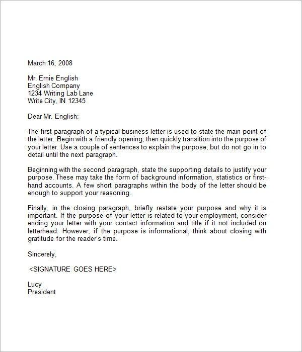 Business Closing Letter Dengan Gambar