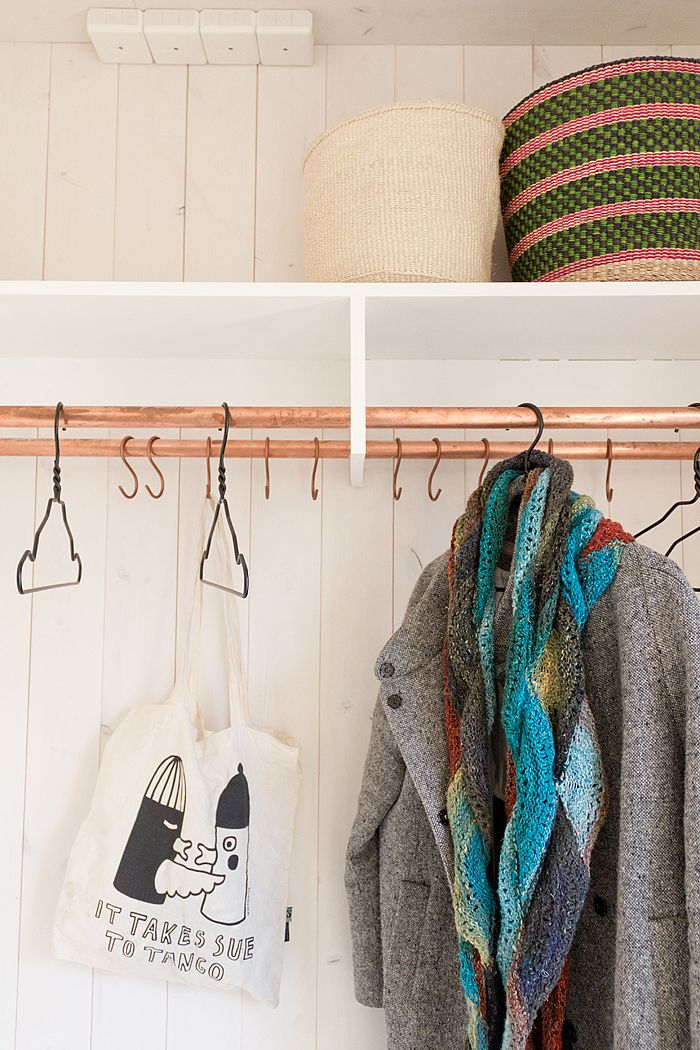 Wonderful hallway furniture, hommemade by wonderful Swedish blogger Solrum http://solrum.blogspot.se/