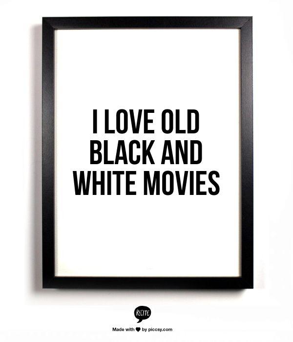 I love old black and white movies...nah, I think Im borderline obsessed!  Maybe borderline addicted!