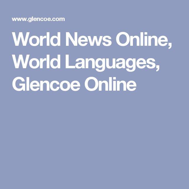 World News Online, World Languages, Glencoe Online