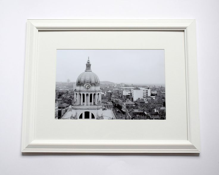 12x16 Framed Nottingham Black & White Print, Old Market Square, Street Photography, Local Sights by ievaGallery on Etsy