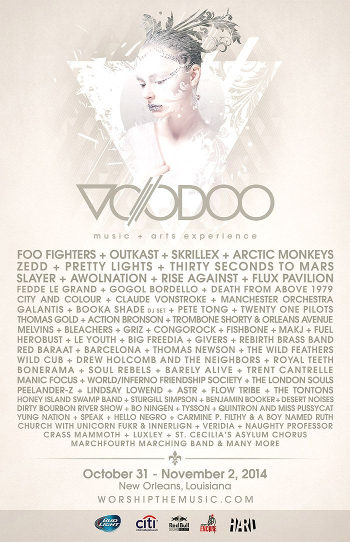 Tickets and lineup for Voodoo Experience 2014 in New Orleans, LA on October 31, 2014 on The Untz.