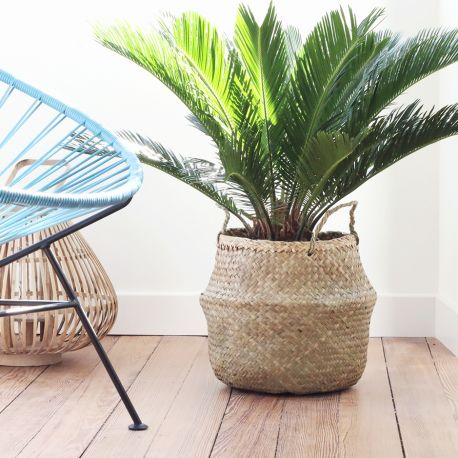 Panier boule Seagrass basket chez Bird on the wire www.botw.fr