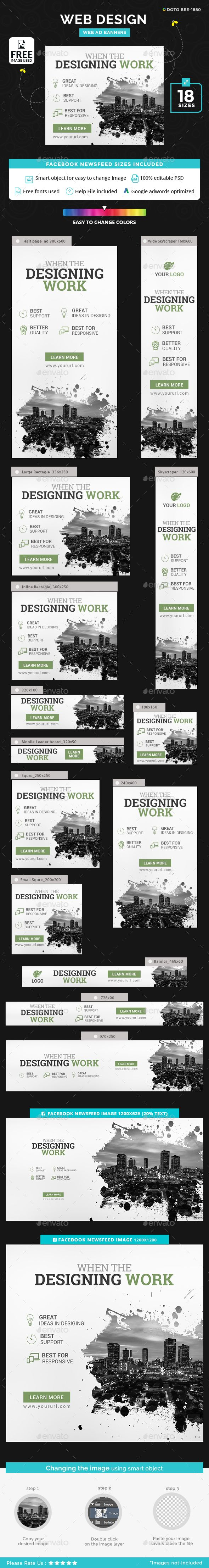 Web Design Banners - Banners & Ads Web Elements Download here : https://graphicriver.net/item/web-design-banners/19293646?s_rank=41&ref=Al-fatih