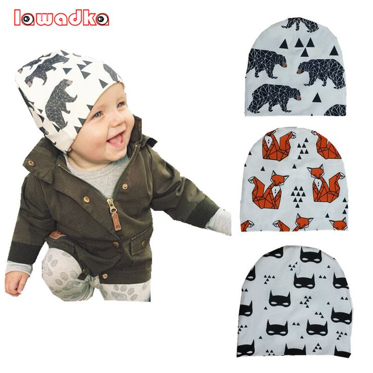 Winter Warm Cotton Baby Hat Girl Boy Toddler Infant Kids Caps Lovely Animal Knitted Crochet Baby Beanies Accessories