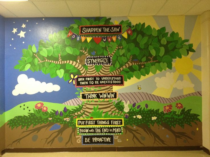 seven habits tree school murals pinterest trees and