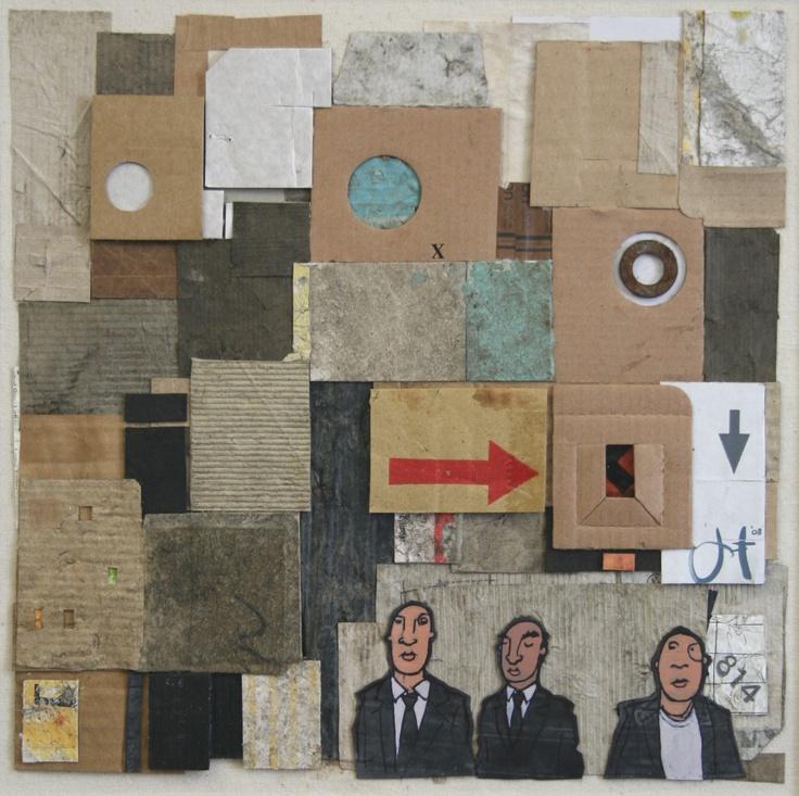 Half an Hour Wait  Cardboard, bicycle inner tube, acrylic  - Jim Edwards