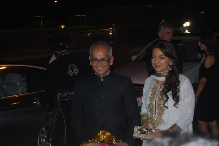 Juhi Chawla along with her husband