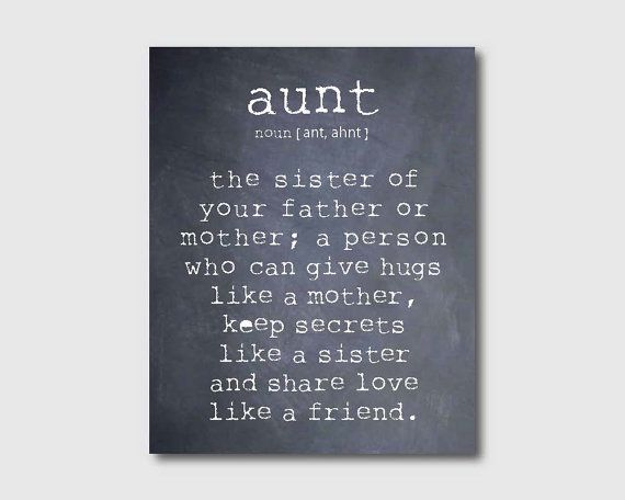 Wall Art An aunt is a person Aunt Quote by SusanNewberryDesigns