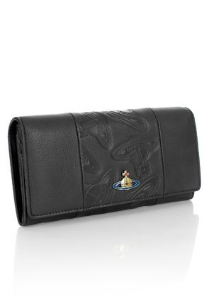 Vivienne Westwood 長財布 【新作】Vivienne Westwood*オーブ型押し ロゴ付レザー長財布 (3)