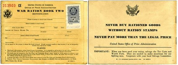 Free World War II Food Ration Stamps for Design and Scrapbooking