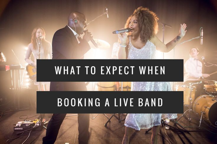 What to expect when booking a live band for your #wedding, #event or #party.