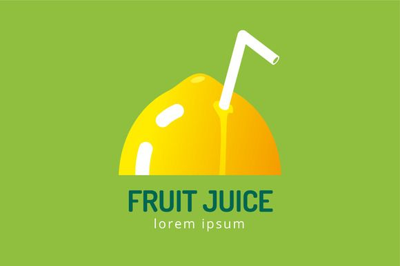 Lime or lemon fruit slice logo icon by Vector-Stock on Creative Market