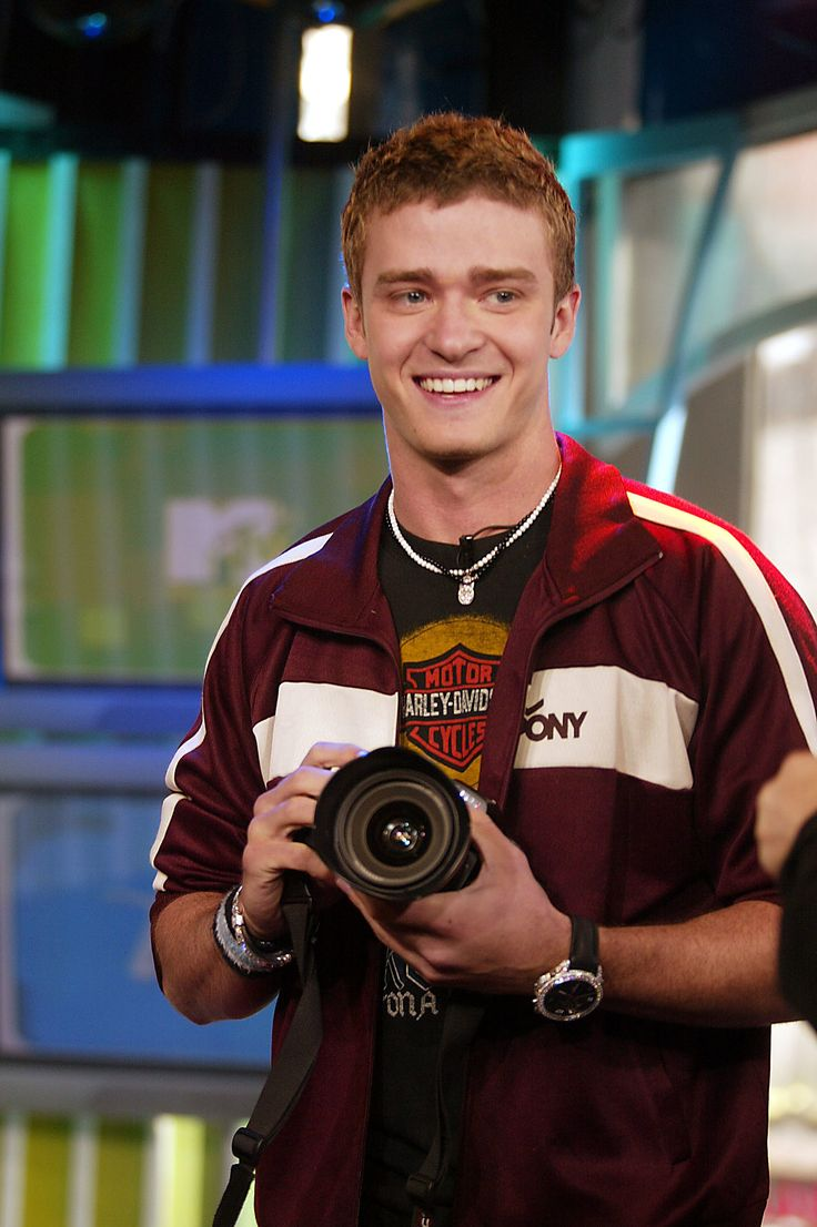 Justin Timberlake on TRL in 2002.