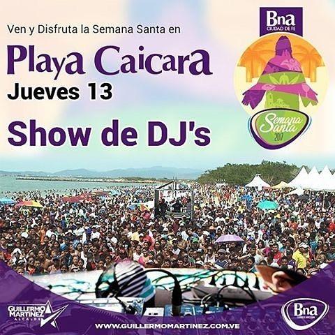 Vía @dgsbarcelona Mañana jueves 13 de abril inicia la descarga musical en el epicentro del turismo de #Barcelona: nuestra Playa Pepe de Caicara. Desde las 10:00am te esperamos para disfrutar de Show de Dj's además de #TorosColeados y la Gran Feria Nacional de Caballos de Cuarto de Milla El viernes también contaremos con la presencia de:@ruem_oficial@aldomusica@rastamaika y@melodiaperfect y el sábado 15:@tecupae@CriolloHouse y@oficialguaco.  Vive la #SemanaSanta2017 en #Barcelona donde…