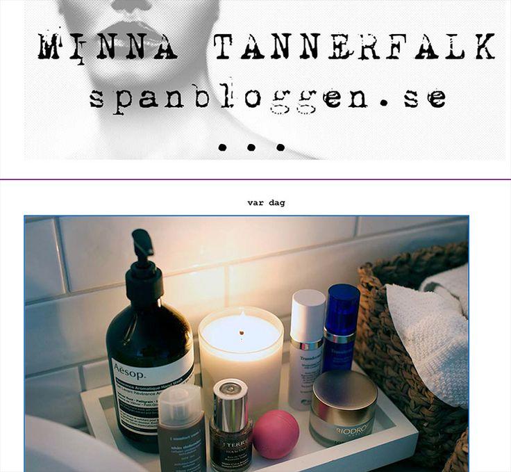 Transderma Skin Care Minna Tannerfalk's Current Super-favorite (14 October, 2014) http://www.mytransderma.com/beautifulskin/?p=1538