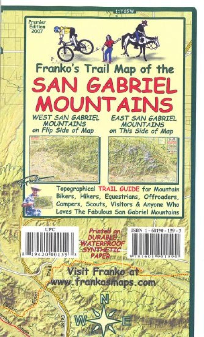 California Map, San Gabriel Mountains, folded, 2007 by Frankos Maps Ltd.