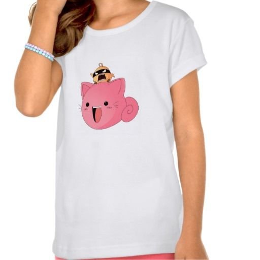 Kids T-Shirt - Chatan the pink cat