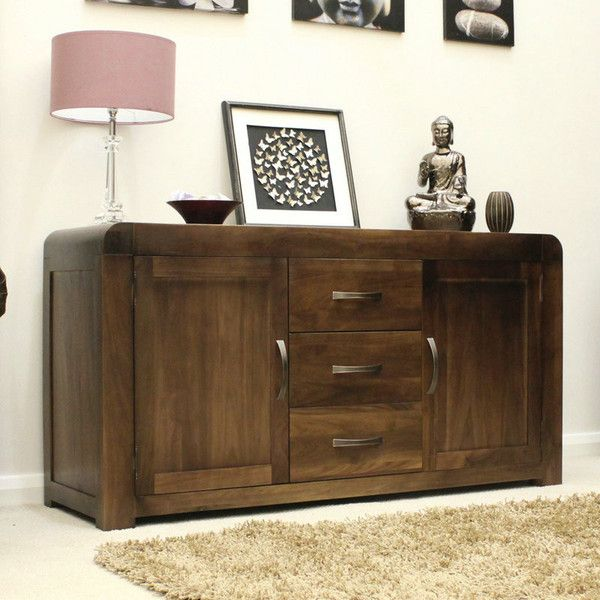 Buy Baumhaus Shiro Walnut Large Sideboard Online By Furniture From CFS UK At Unbeatable Price