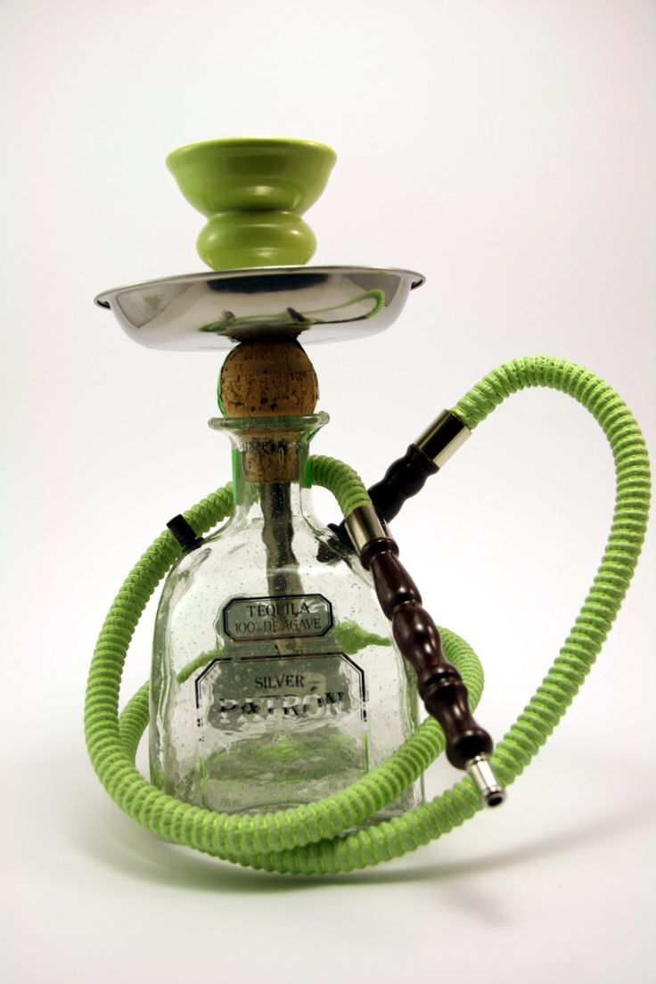 Patron Hookah | What better way to recycle your bottle than to literally use an empty bottle for a completely different purpose?