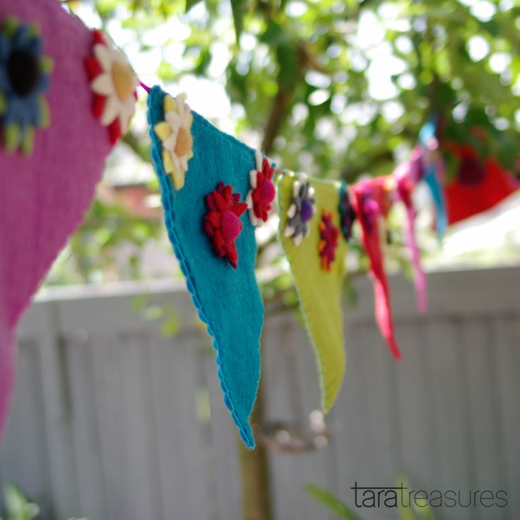 Felt flag bunting. Perfect for any occasion of just to cheer up your home.
