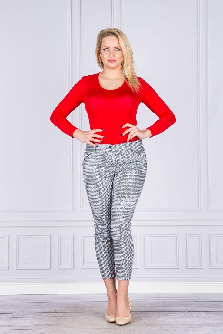 Spodnie damskie cygaretki - ptakmoda.com