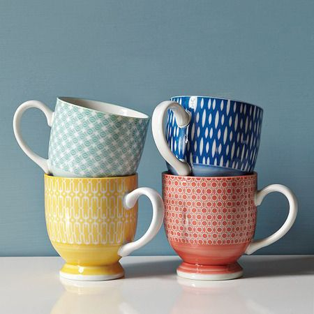 So cute! I love the colors and patterns. These would go well with our Fiesta Ware!