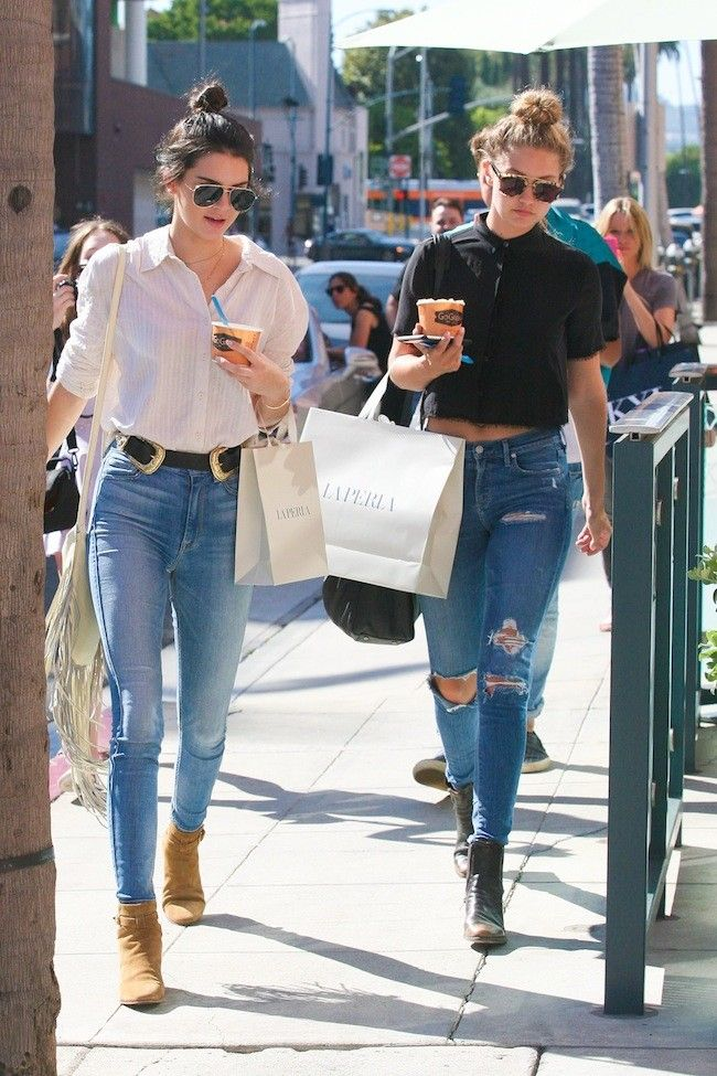 Kendall Jenner, that model stuck to jeans waysify