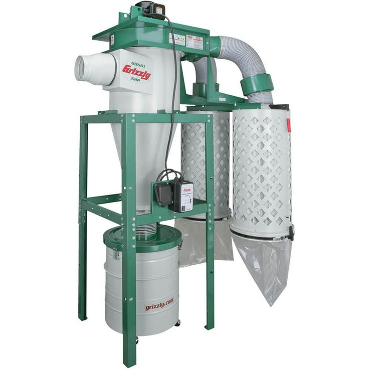 Grizzly Industrial 5 HP 3Phase Cyclone Dust Collector