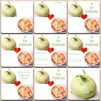 vegetable chart kohlrabi nutrition worksheets montage - a collection of printable resources for teachers, students and paleo kids from creativelypaleo.com
