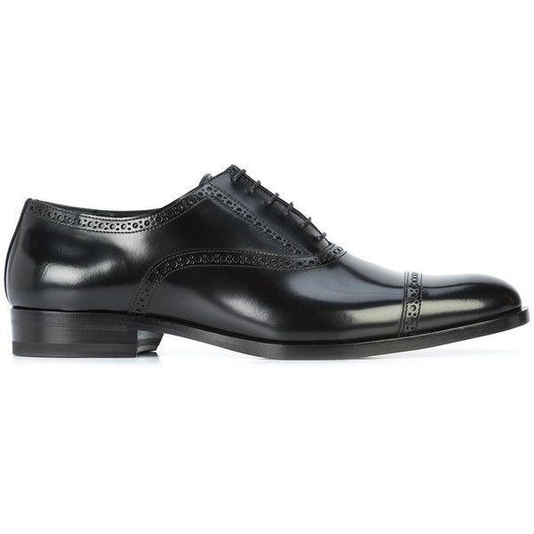 Saint Laurent classic oxford shoes (2,285 BAM) ❤ liked on Polyvore featuring men's fashion, men's shoes, men's oxfords, black, mens lace up shoes, mens black leather shoes, yves saint laurent mens shoes, mens oxford shoes and mens leather shoes