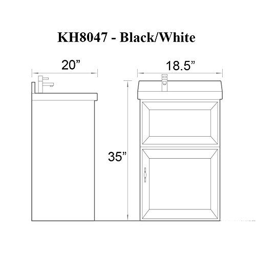 "sink ALEXANDER 18"" WHITE Utility Sink - Modern Mop Slop Tub Deep Sink Ceramic Laundry Room Vanity Cabinet Contemporary Hardwood Hard"