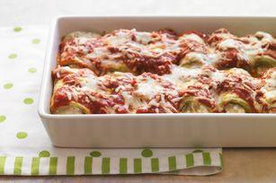Eggplant Rollatini - Ooey gooey goodness!  Try this delicious cheesy veggie recipe tonight!!