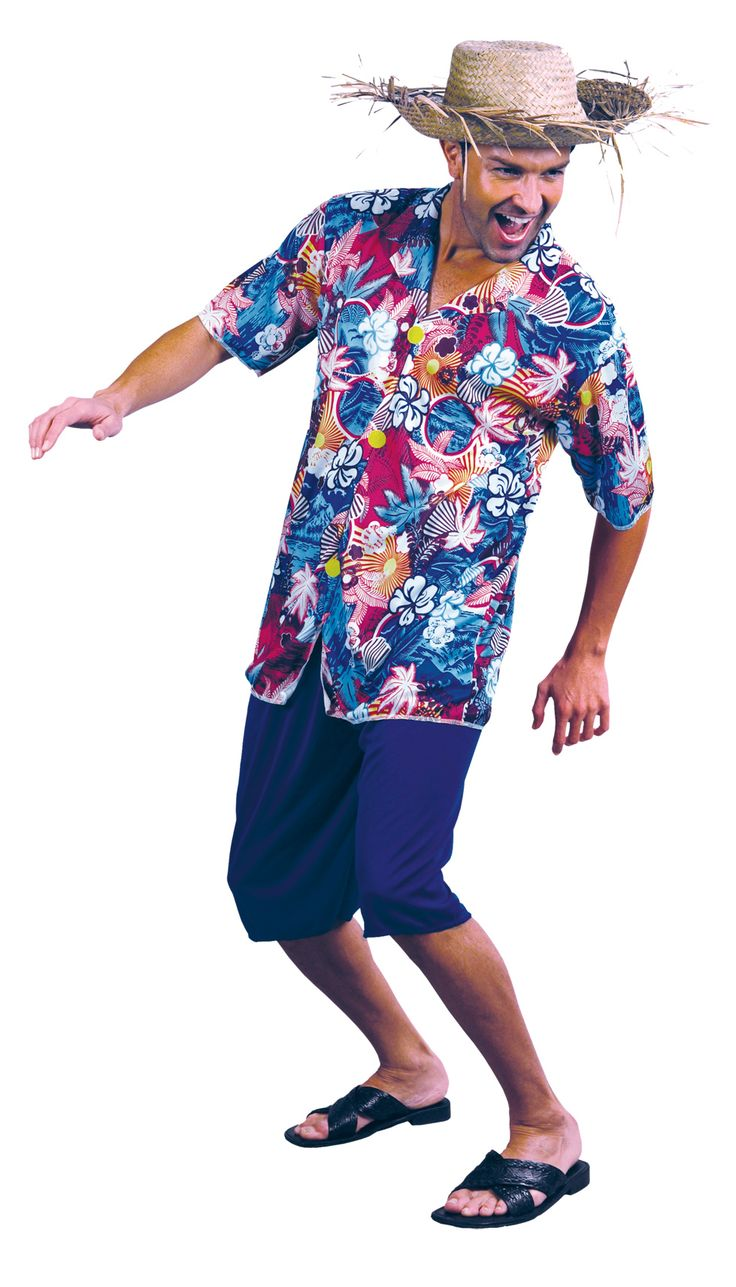 Kostuum Hawaïaanse toerist voor heren : Vegaoo Volwassenen Kostuums