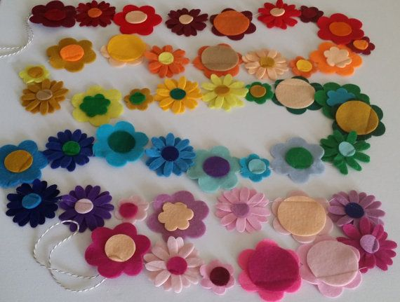 Rainbow Daisy Chains by MilliesArtyDesigns on Etsy