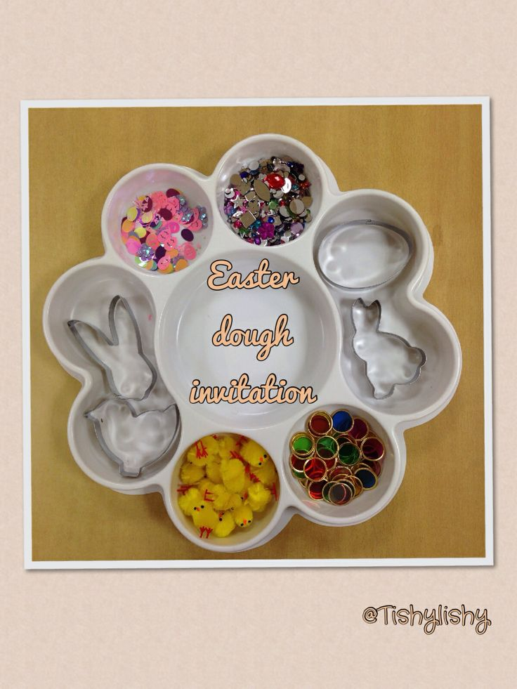 Easter theme dough invitation in my FS2 class.