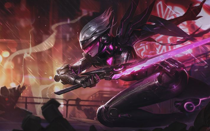 Download wallpapers Fiora, sword, MOBA, female characters, League of Legends