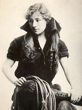 NAN ASPINWALL - the first woman to ride on horseback across North America - alone.  She rode from San Francisco to New York from September 1, 1910 arriving on July 8, 1911, on a bet from Buffalo Bill, whose Wild West show she performed in with her husband. She rode her thoroughbred mare, Lady Ellen, on the journey.