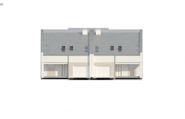 Projekt domu bliźniaczego Zb13 - elewacja 1