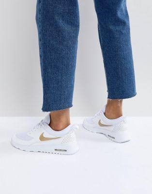 nouveau produit 6f59c 588f7 Nike - Air Max Thea - Baskets - Blanc et doré | In my closet ...