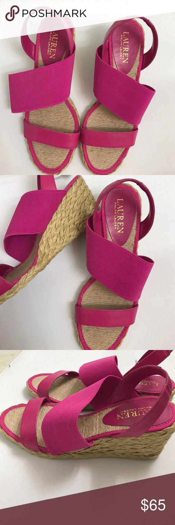 Sandals chic espadrille Shoes New Lauren Ralph Lauren Shoes Wedges