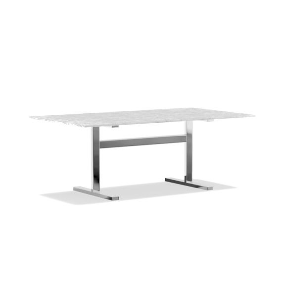 Mercer Rectangular Dining Table Extra Large 80 Carrara Marble Top Bronze Base Williams In 2020 Dining Table Marble Luxury Dining Tables Rectangular Dining Table