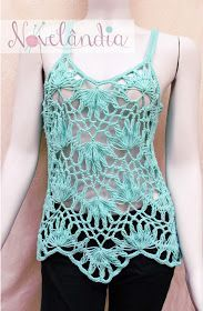 Crochet hairpin lace tank top!