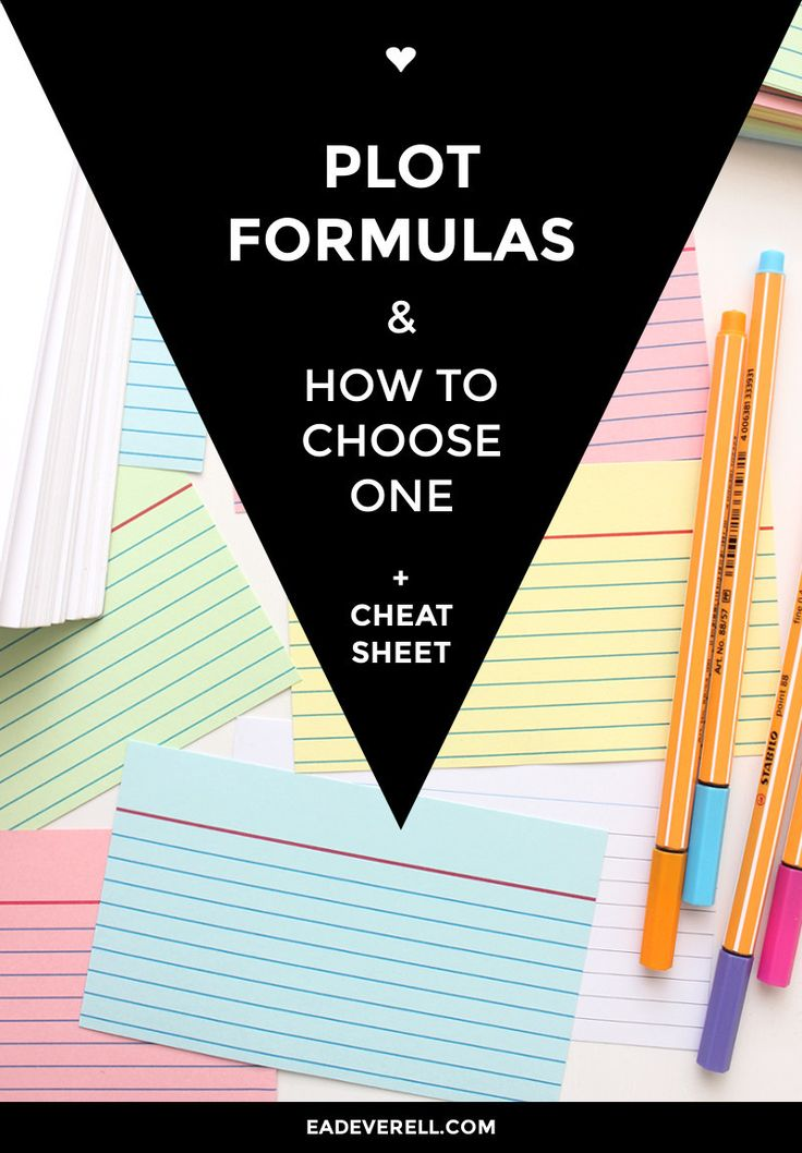 How to use plot formulas in your writing...