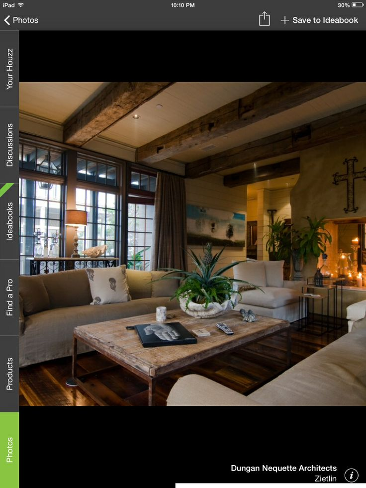 Beams great room