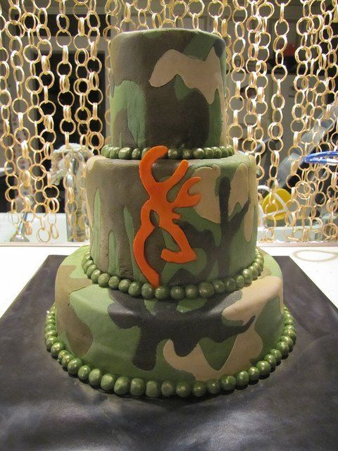 Browning camo cake....omg I want this. Seriously I want this for my bday haha...maybe with plaid look layer in there too?? Yes.